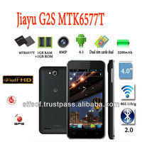 jiayu G2S Android 4.1 MTK6577T Cortex A9/4.0 Inch QHD IPS Screen 1GB RAM 3G/GPS/AGPS/8.0MP Camera Dual Core 1GHz Wifi Phone