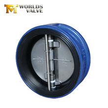 Cast steel double plate wafer rubber lining check valve
