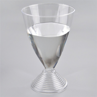200ml strong clear plastic wine cup disposable, SGS PS goblet of red wine cocktail party wedding bar