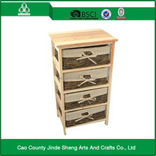 modern log color wood furniture with willow basket ; factory outlets.
