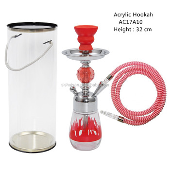 2017 good package small acrylic hookah