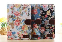 Cowboy Flower Cloth With Card Slots Case For iPad Mini