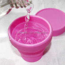 Chinese Supplier Foldable Silicone Collapsible Water Travel Cup With Lid