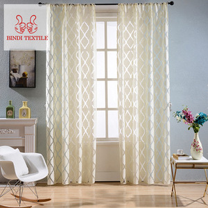 Best Good Design CBX005 Different Style BurnOut Sheer Curtain For Kids Room