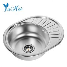 double bowl round kitchen sink 304 stainless steel double sink manufacturer