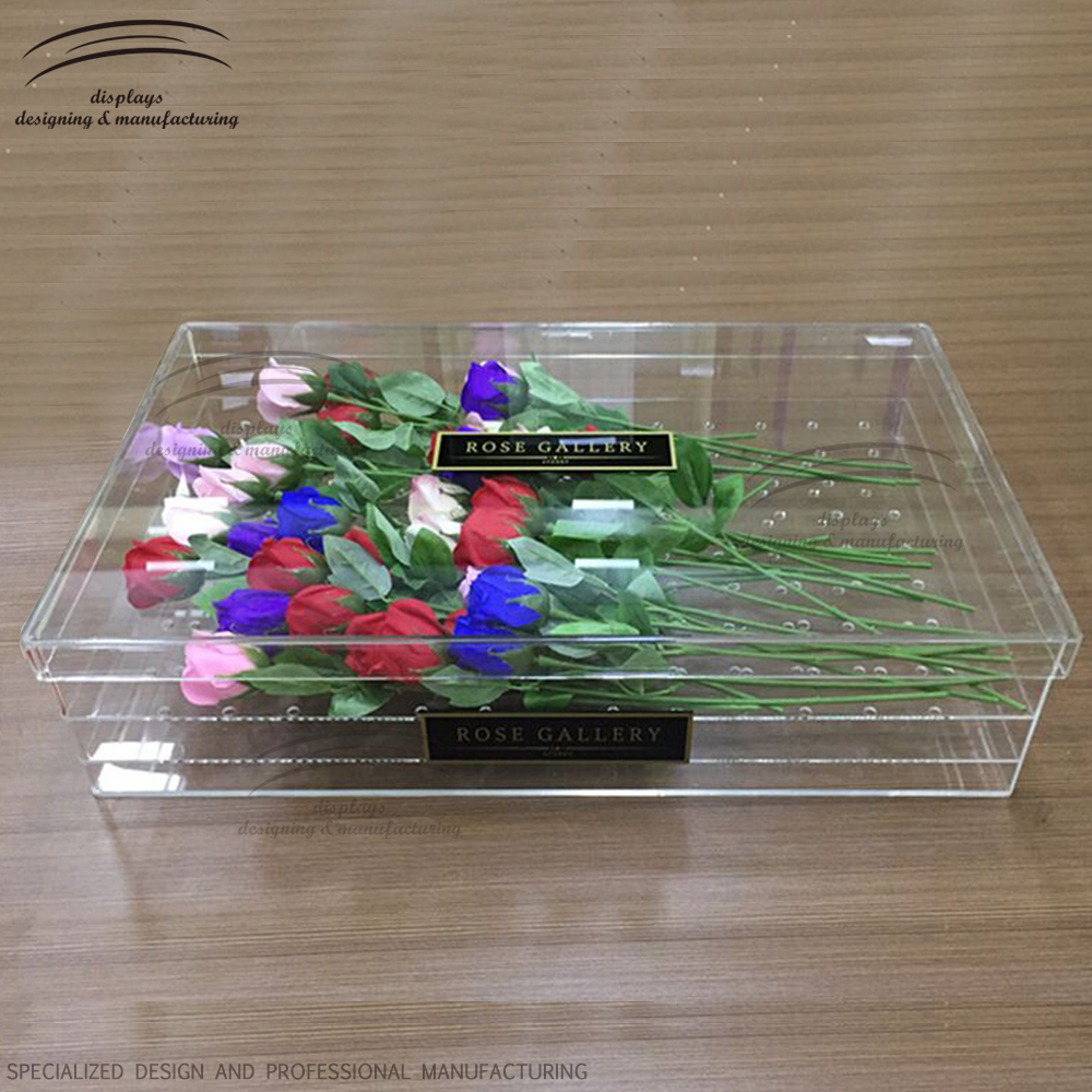 Weitu acrylic box for flowers wholesale clear rose acrylic flower box