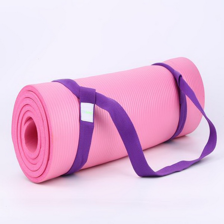 Non-toxic foldable top yoga mat carry belt