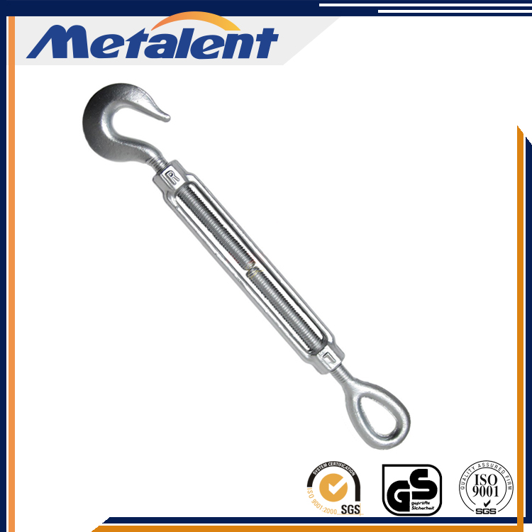 Hot Dip Galvanized Turnbuckle With Hook and Eye/Eye Bolt Turnbuckle
