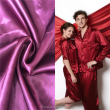 High Quality Super Soft Stretch Silk Imitation Satin Sateen Fabric with Spandex for Nightwear,Underwear