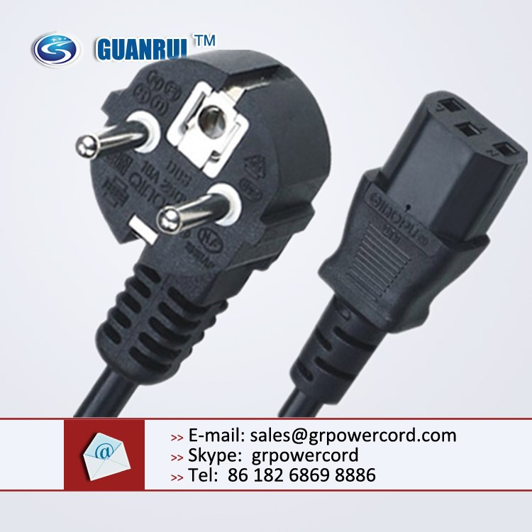 Extension Cord French Type Plug and Socket 16A 250V IP20
