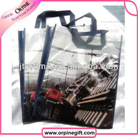 Promotion heat transfer printing non woven shopping bag