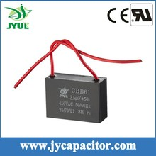 cbb61 motor run capacitor for ceiling fan high voltage capacitor