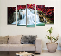 Eco solvent 5 panel art wall canvas for paintings