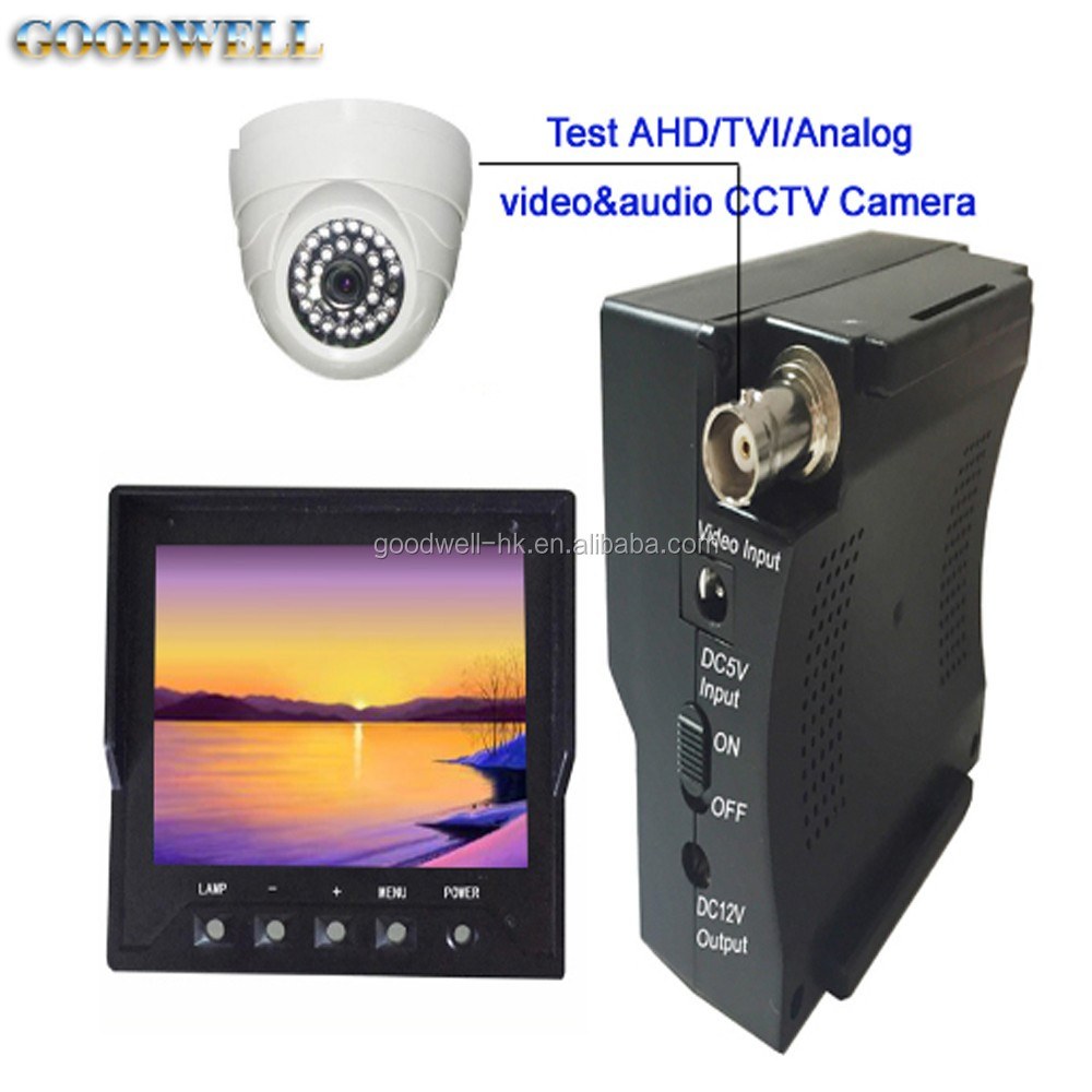 "Made in China 3.5"" LCD Monitor used for AHD/TVI/CVI CCTV Camera Testing , with DC5V Input and DC12V Output"