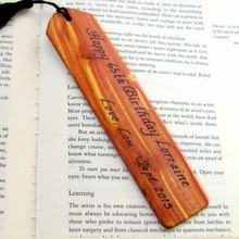 wood gift for bookmark