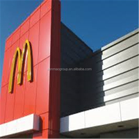 insulated interior roofing sandwich panels/aluminium composite wall board