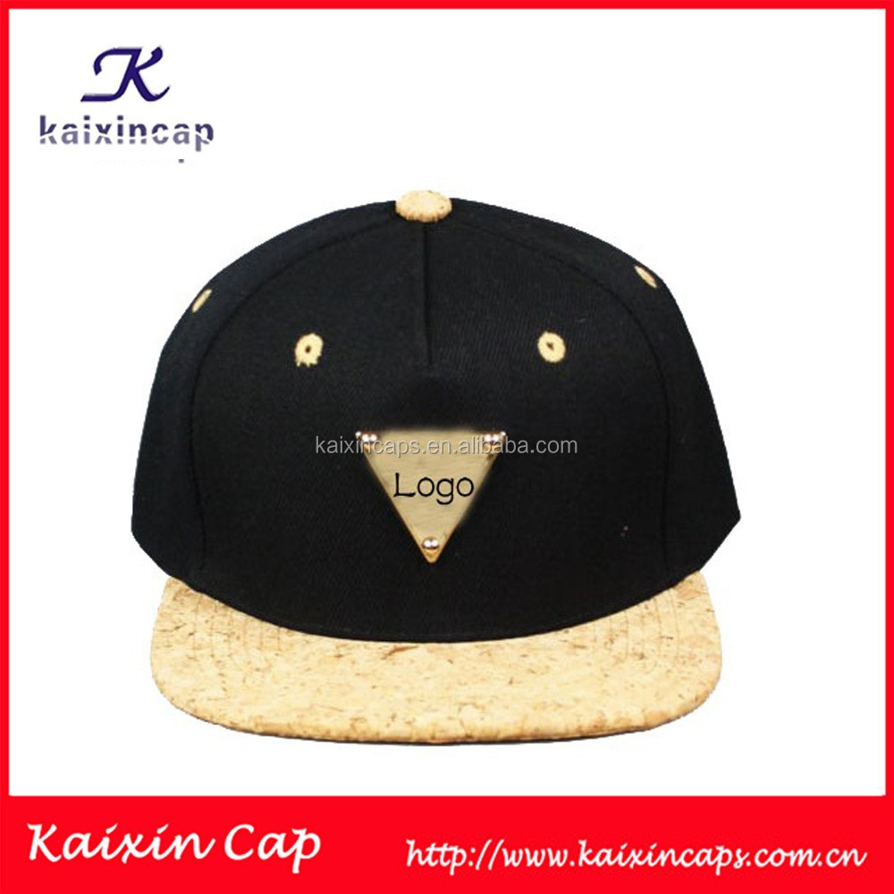 custom plain new design your own gold plate snapback hats/caps cheap wholesale