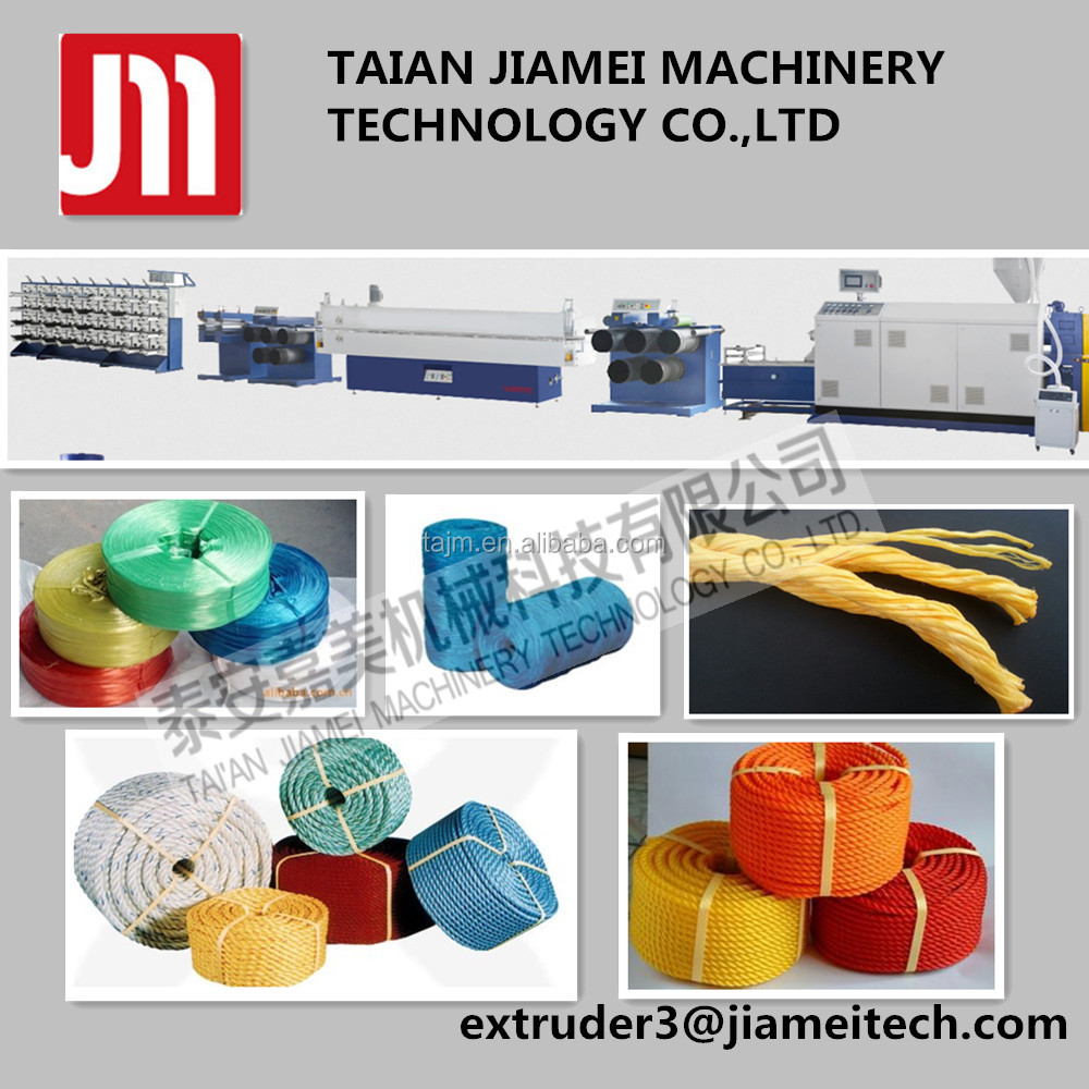 PP raffia twine Stretching Line Twine Yarn Extruder Split Film Machine