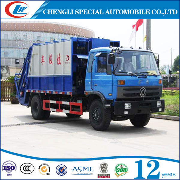 dongfeng 4*2 compactor garbage truck price good compactor garbage truck