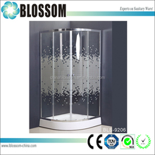 High quality and competitive over bath shower screen with shower room from China manufacturer