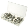 40pcs Automotive stainless steel hose clamp assortment