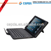 Removable Detachable Wireless Bluetooth ABS Keyboard PU Leather Case Tablet Stand for Apple iPad Mini
