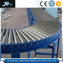 2016 China professional carbon steel galvanized chain driven gravity roller belt conveyor