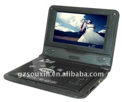 Slim Portable DVD Player with 7-inch TFT LCD Display and Built-in Stereo Speakers
