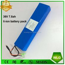 LG 2600mah battery cell 10S3P 36V 7.8 ah Li-ion 18650 battery Pack for e-bike Electric Bike Bicycle