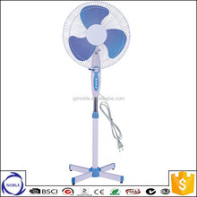 Guangzhou factory 110v 220v cross base or round base 16 inch pedestal stand fan