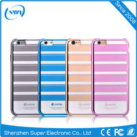 Luxury Anti-shock Full Protective Hard PC Case for iPhone 6s, Stripe Design Colorful Back Cover Case for iPhone 7