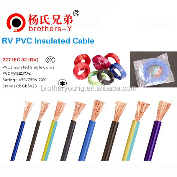 BV BVV RVV RV PVC Insulated Power Cable