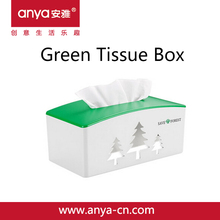 D691- 2015 New Products Green Tissue Box Plastic Tissue Holder The Green Symbolizes The Protection Of Environment