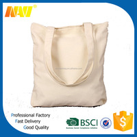 Customized shopper wholesale plain canvas bag