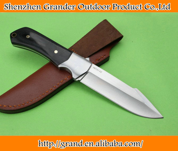 steel + ebony handle fixed blade camping <strong>knife</strong> hunting tools 58HRC 8Cr13 Stainless steel <strong>knives</strong> 6681