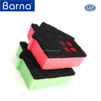 High water absorption dish scourer pad microfiber kitchen sponge