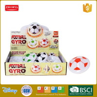 Zhorya hot sale flashing musical fan and space gyro football drifting peg top