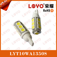 T10 W5w LED Wedge 13 SMD White with 12V DC for Cars Trucks Auto