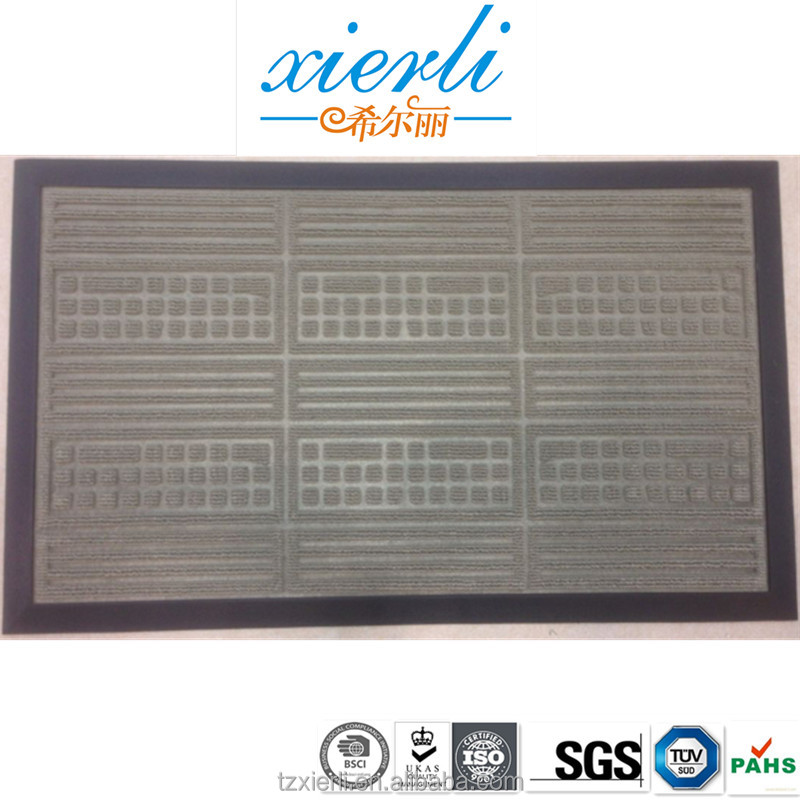 Durable rubber door mat, PP carpet, car floor mat