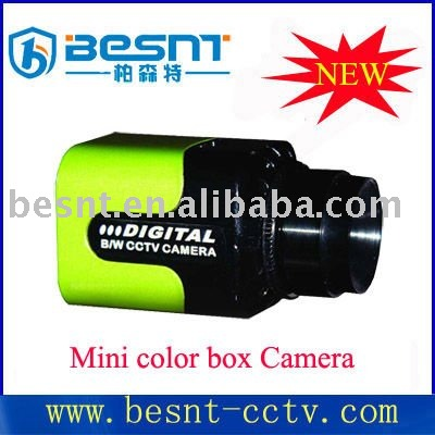 Hot saled all over the world Security CCD 520TVL Mini Color Box cctv camera BS-530AGX