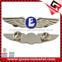 Promotional hot selling pilot metal wing badge