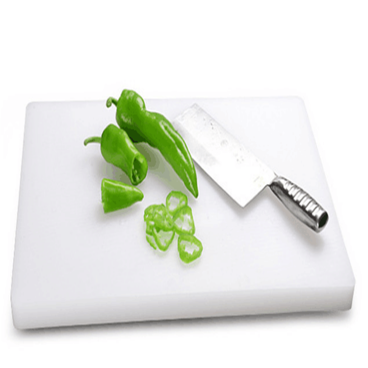 Hot sale factory direct price rectangle plastic pe chopping board