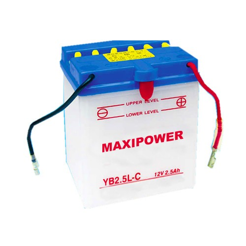 12v2.5ah high performance dry charged motorcycle battery yb2.5l-c