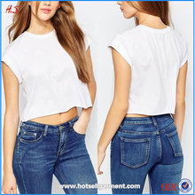 Chian factory promotional cheap good quality clothing manufacturer custom t-shirt white blank crop top