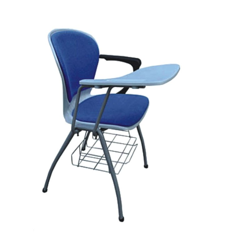 powerful plastic chair with tablet arm and bookcase A01+01+02B+02C+02D