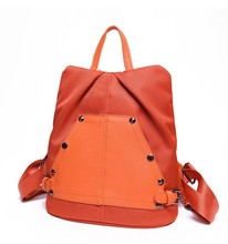China Factory Backpack, Women PU Silk Nylon Ventilate college bags
