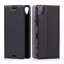Supper Slim Leather Flip Mobile Phone Cases Covers for Sony Xperia X