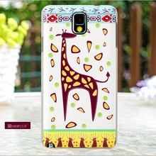 Giraffe parttern plastic phone case for samsung galaxy note 3 imd hard case
