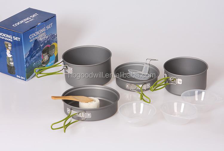 outdoor cutlery set of pan camping pot set 2 3 people