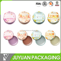 Round tin for tin lipstick/small lip balm metal tin container with slide lid